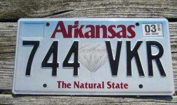 Arkansas Diamond The Natural State License Plate 2016 501 RGM