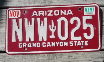 Arizona Sunset Cactus Wheel Chair License Plate Grand Canyon State 2015