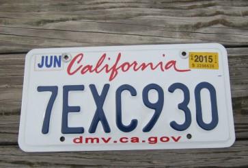 California Lipstick License Plate 2015