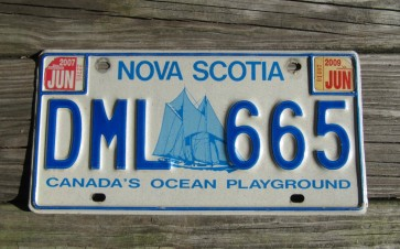 Nova Scotia Canada Ship License Plate 2013 Canada's Ocean Playground