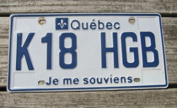 New Brunswick Canada License Plate 2012 CPN 135