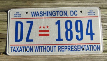 District of Columbia License Plate Washington DC Celebrate and Discover 1990