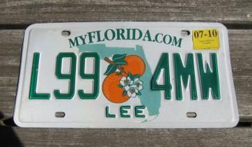 Florida Sunshine State License Plate 1975