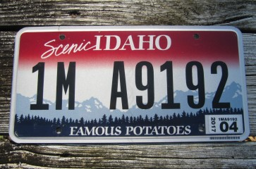 Idaho Scenic Famous Potatoes License Plate 2017