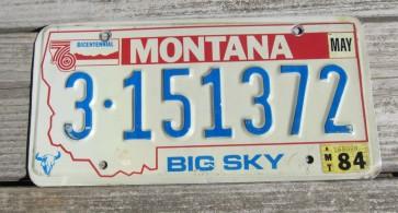 Montana Big Sky Country License Plate 2014