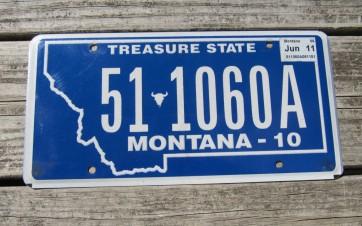 Montana Big Sky License Plate 2006