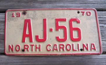 North Carolina License Plate First In Flight 2014