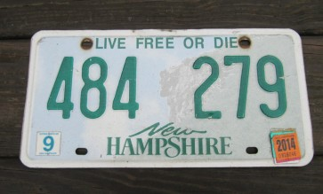 New Hampshire Old Man Of The Mountain License Plate 2014