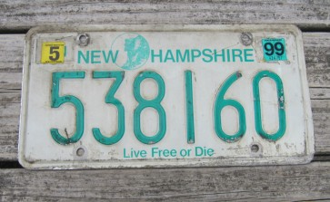 New Hampshire Old Man Of The Mountain License Plate 2015