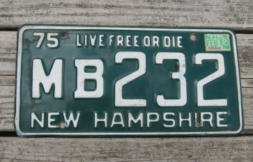 New Hampshire Old Man of The Mountain Live Free or Die License Plate 1992