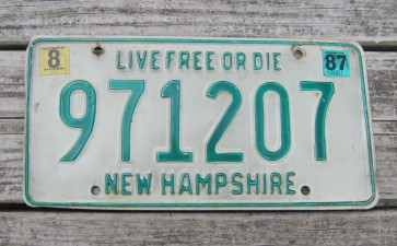 New Hampshire Old Man of The Mountain Live Free or Die License Plate 1999