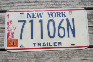 New York Motorcycle License Plate The Empire State 2011