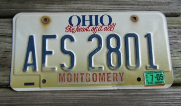 Ohio Bicentennial License Plate 2003