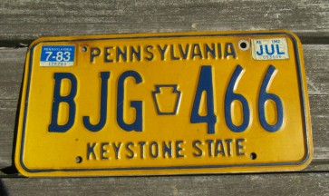Pennsylvania Visit PA Truck License Plate