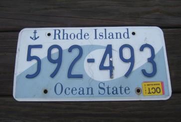 Rhode Island Wave License Plate Ocean State 2015