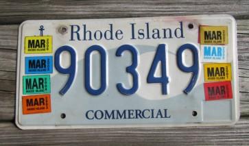 Rhode Island Wave License Plate Ocean State 2010
