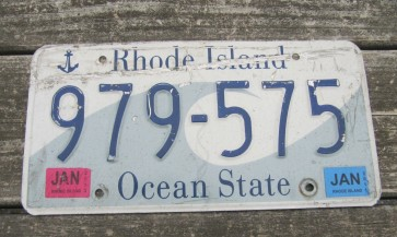 Rhode Island Wave License Plate Ocean State 2013