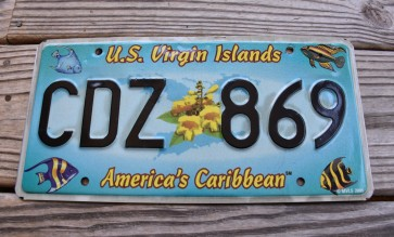 US Virgin Islands America's Caribbean License Plate Tropical Fish