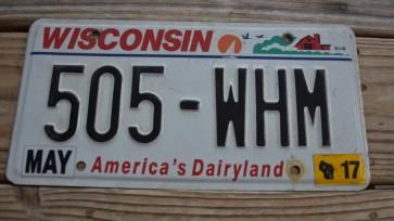 Wisconsin America's Dairyland License Plate 2017