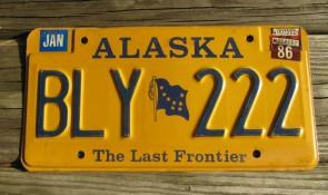 Alaska Gold Rush License Plate Centennial