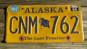 Alaska Gold Rush Centennial License Plate  DPY356