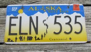 Alaska Flag License Plate The Last Frontier GPU 985