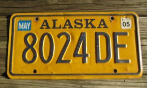 Alaska Gold Rush Centennial License Plate ECC 858