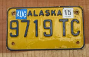 Alaska License Plate North To The Future 1972 USA