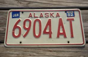 Alaska License Plate AK 1982