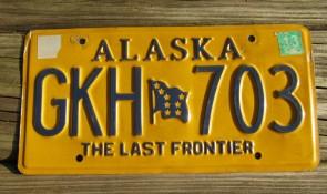Alaska Gold Rush Centennial License Plate 2008 DRN 510