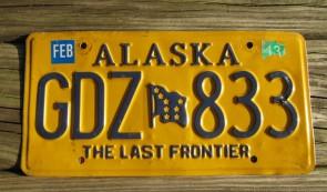 Alaska Flag License Plate The Last Frontier GRD 136
