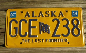Alaska Flag License Plate The Last Frontier GVB 411