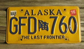 Alaska Flag License Plate The Last Frontier GJW 570