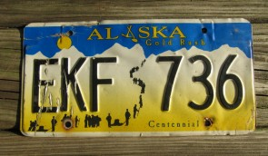 Alaska Flag License Plate The Last Frontier GZK 156