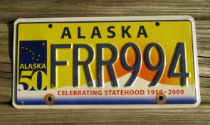 Alaska Flag License Plate The Last Frontier GWC 381