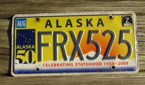 Alaska Flag License Plate The Last Frontier FEZ 675