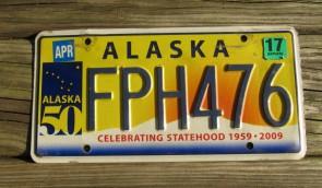 1989 Alaska Flag License Plate The Last Frontier CAF 932