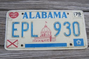 Alabama Capitol License Plate 1976 EPL 930