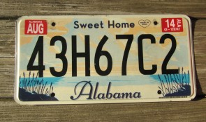 Alabama Heart of Dixie License Plate 1995 59AZW94