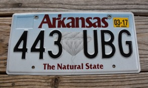 Arkansas Diamond The Natural State License Plate 2017 443 UBG