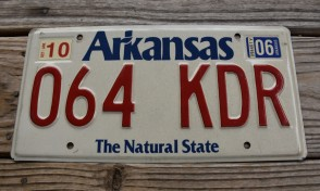 Arkansas White The Natural State License Plate 2006 064 KDR