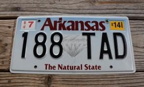 Arkansas Diamond The Natural State License Plate 2014  188 TAD
