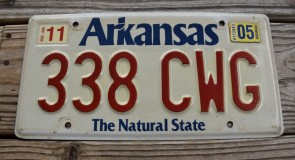 Arkansas White The Natural State License Plate 2005 338 CWG