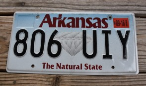 Arkansas Diamond The Natural State License Plate 2016 806 UIY