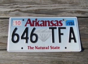 Arkansas Diamond The Natural State License Plate 2015