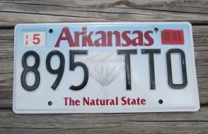 Arkansas Diamond The Natural State License Plate 2016