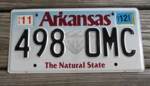 Arkansas The Natural State License Plate 2014