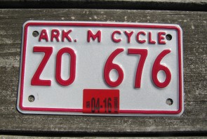Arkansas Diamond The Natural State License Plate 2016 694 RBY