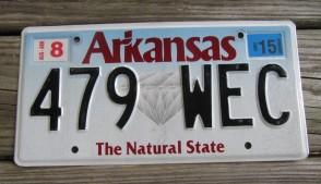Arkansas Diamond The Natural State License Plate 2017 130 UID