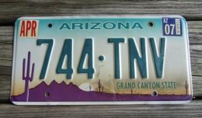 Arizona Sunset Cactus License Plate Grand Canyon State 2016 BAH 3858